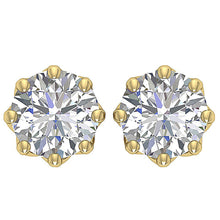Load image into Gallery viewer, Yellow Gold 8 Prong Set Earring-DST102
