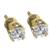 Load image into Gallery viewer, Vintage Solitaire Studs Earring 14k-18k Gold-DST16-0.30-3