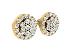 Load image into Gallery viewer, Designer Solitaire Studs Earring-E-433