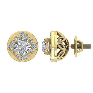 Designer Studs 14k-18k Yellow Gold Earring-DE170