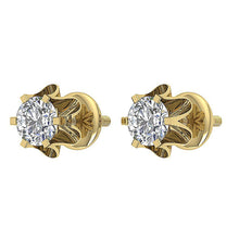 Load image into Gallery viewer, 14k-18k Rose Gold Vintage Designer Earring-DE191
