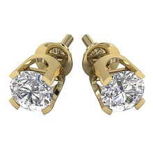 Load image into Gallery viewer, 14k-18k Solid Gold Studs Earring Prong Set-DST16-0.30-1