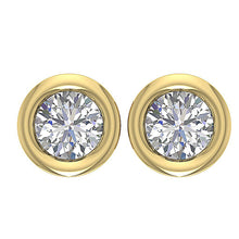 Load image into Gallery viewer, 14k-18k Yellow Gold Round Diamond Earring-DST45-0.55CT