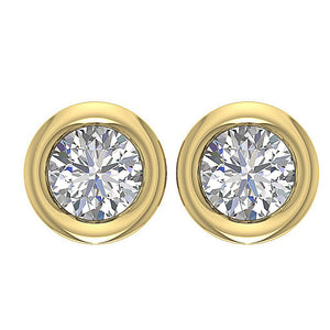 14k-18k Yellow Gold Round Diamond Earring-DST45-0.55CT