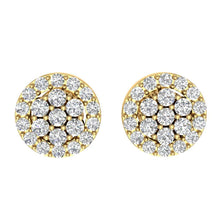 Load image into Gallery viewer, Designer Halo Solitaire Studs Earrings 14k/18k Solid Gold Natural Diamonds SI1 G 0.90 Ct
