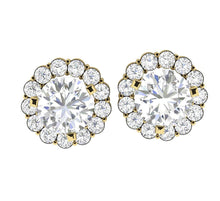 Load image into Gallery viewer, Genuine Diamond Yellow Gold Earring-E-708-1