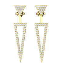 Load image into Gallery viewer, Natural Diamond Earring Yellow Gold-E-780