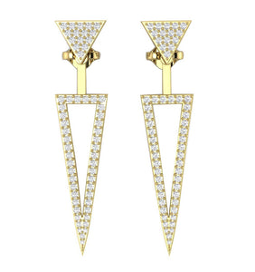 Natural Diamond Earring Yellow Gold-E-780