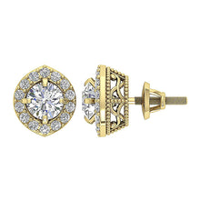 Load image into Gallery viewer, Designer Natural Diamond 14k-18k Gold Earring-E-782-1