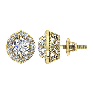 Designer Natural Diamond 14k-18k Gold Earring-E-782-1