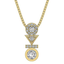 Load image into Gallery viewer, Yellow Gold Round Diamond Fashion Pendants-DP403