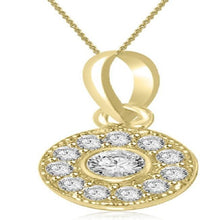 Load image into Gallery viewer, Natural Diamond Halo Pendants-P-165