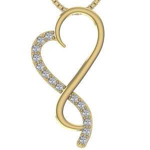 Yellow Gold Pave Setting-DP23
