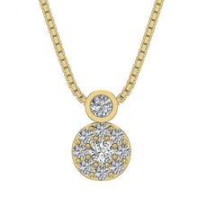 Load image into Gallery viewer, Circle Of Love Pendants I1 G 0.60 Ct 14k/18k Solid Gold Natural Diamond Prong & Bezel Set
