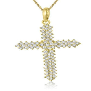 SI1 G 1.25 Ct Designer Cross Pendants 14k/18k White Yellow Rose Gold Natural Diamond