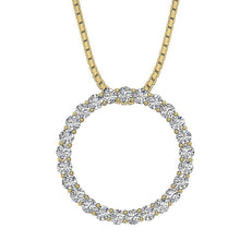 Load image into Gallery viewer, Circle Of Love Pendants Pave Set Natural Diamond I1 G 0.50Ct 14k/18k White Yellow Rose Gold