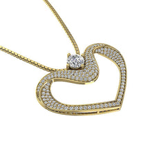Load image into Gallery viewer, Round Cut Diamond Heart Pendants-DP195