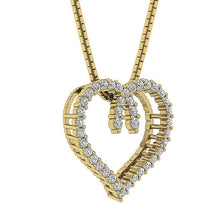 Load image into Gallery viewer, Heart Natural Diamond Pendants-DP392