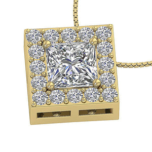 Round Cut Diamond Pendants-DP419