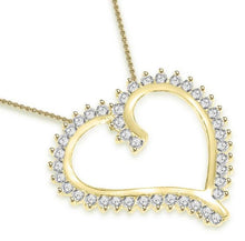 Load image into Gallery viewer, Heart Pendants I1 G 0.75 Ct Round Cut Diamonds 14k/18k White Yellow Rose Gold