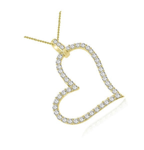 Round Cut Diamond Pendants-P-403