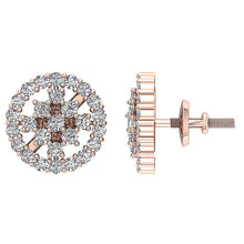 Load image into Gallery viewer, Natural Diamond Earring Set 14k Solid Gold