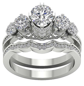 Designer Bridal Genuine Diamonds Ring Set