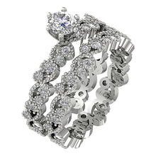 Load image into Gallery viewer, Natural Diamond Ring Set 14k White Gold
