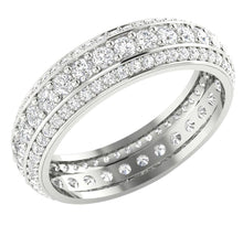 Load image into Gallery viewer, Genuine Diamond Eternity Ring 14k White Gold