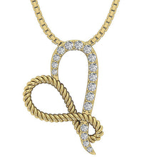 Load image into Gallery viewer, Round Diamond Pendant 14k Yellow Gold