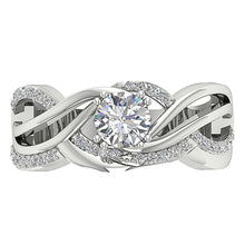 Load image into Gallery viewer, Unique Style Bridal Ring Set 14k White Gold