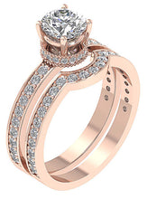 Load image into Gallery viewer, Genuine Diamond Ring Set 14k Rose Gold