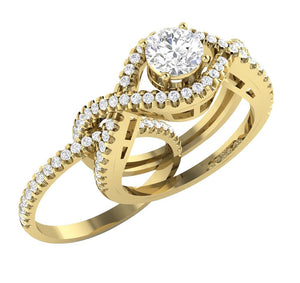 Prong Setting In Bridal Ring Set 14k Yellow Gold