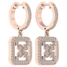 Load image into Gallery viewer, Designer Dangle Earring Set 14k Rose Gold