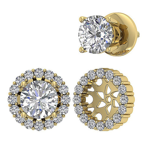 Unique Style Earring Set 14k Yellow Gold