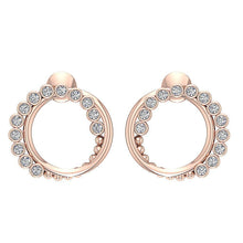 Load image into Gallery viewer, Antique Style Earring Set 14k Rose Gold