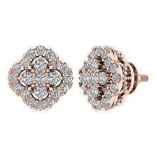 Load image into Gallery viewer, 14k Rose Gold Unique Style Earring Set