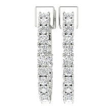 Load image into Gallery viewer, Antique Style Earring Set 14k White Gold