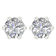 Load image into Gallery viewer, Vintage Style Earring Set 14k White Gold