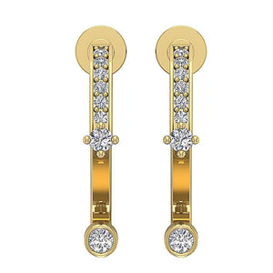 14k Yellow Gold Antique Style Earring Set