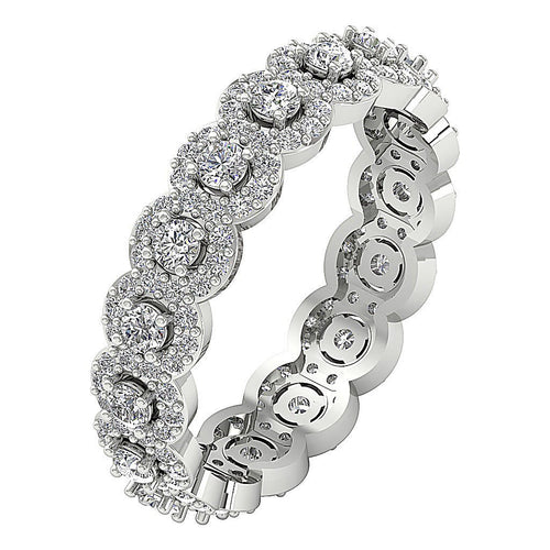Round Diamond Eternity Ring 14k Solid Gold