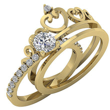 Load image into Gallery viewer, Bridal Anniversary Ring Set 14k Solid Gold
