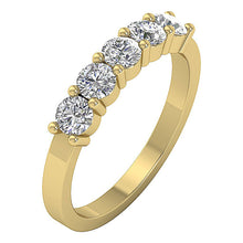 Load image into Gallery viewer, Vintage Five Stone Ring 14k Solid Gold