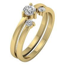 Load image into Gallery viewer, Round Diamond Bridal Ring Set 14k Solid Gold