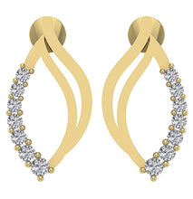 Load image into Gallery viewer, Genuine Diamond Earring Set 14k Solid Gold