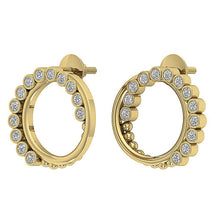 Load image into Gallery viewer, Medium Hoop Earring Set 14k Solid Gold