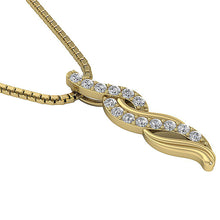 Load image into Gallery viewer, Natural Diamond Pendant 14k Solid Gold