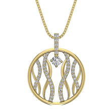 Load image into Gallery viewer, Round Diamond Pendant 14k Solid Gold
