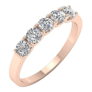 14k Rose Gold  Anniversary Round Cut Ring-DFR56