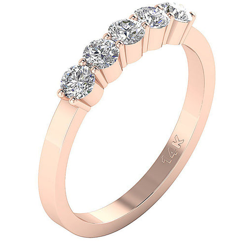 Rose Gold Diamonds Anniversary Ring-FR-86